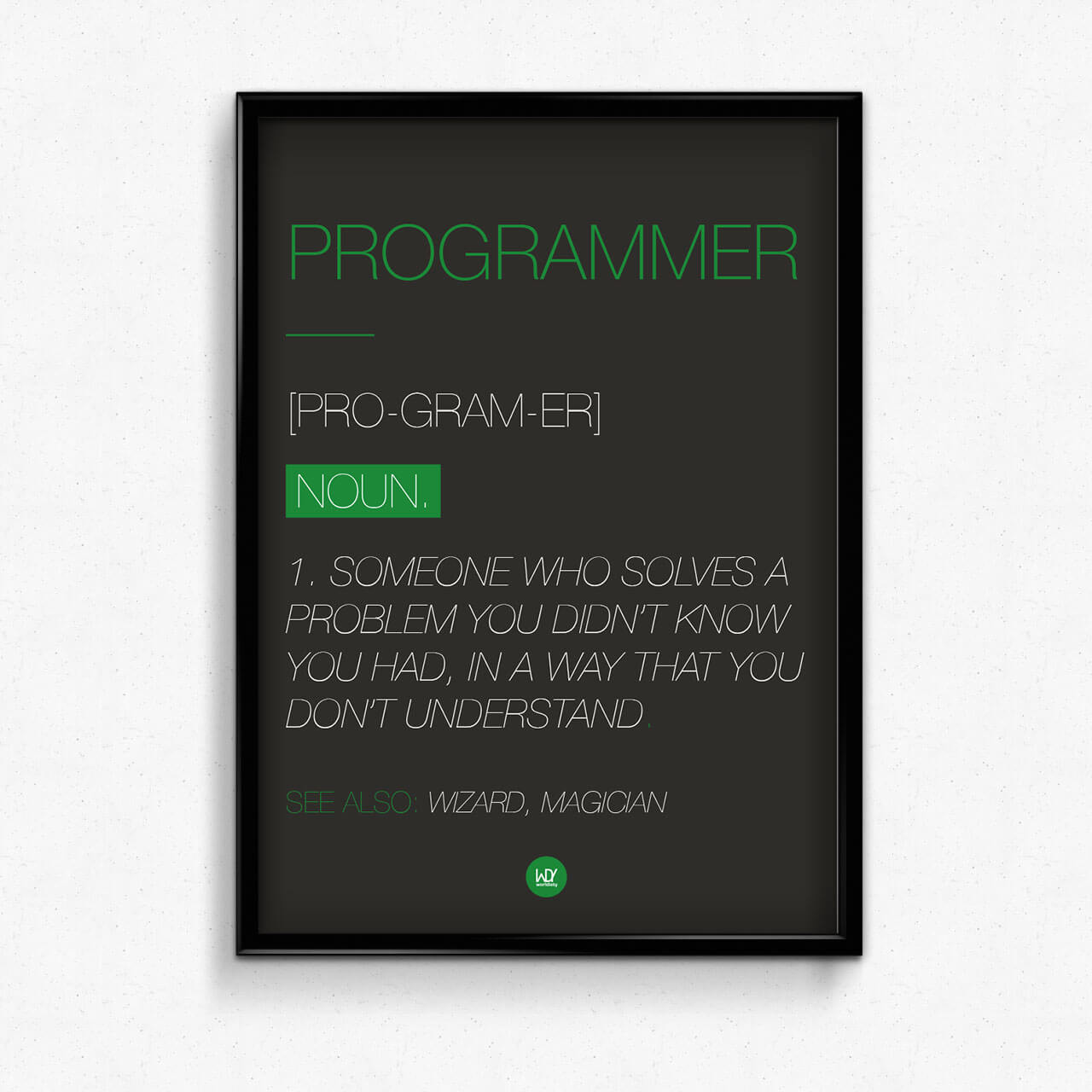 "WDY Poster ""PROGRAMMER"""